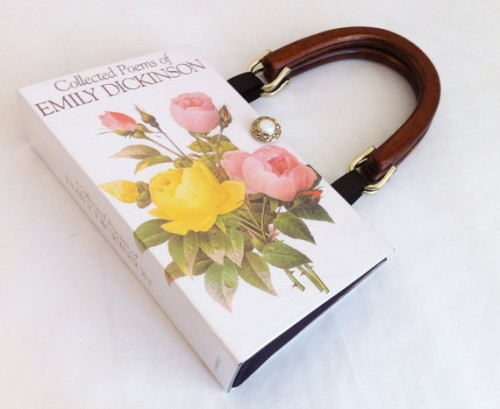 book cover purse